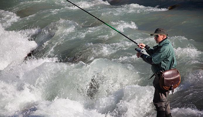 pescando en la plana con la mejor caña de pescar