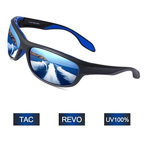 a33a543386 Elegear Gafas de Sol Hombre Polarizadas Gafas Deportivas Súper Ligero y  Cómodo Anti UVA UV Marco