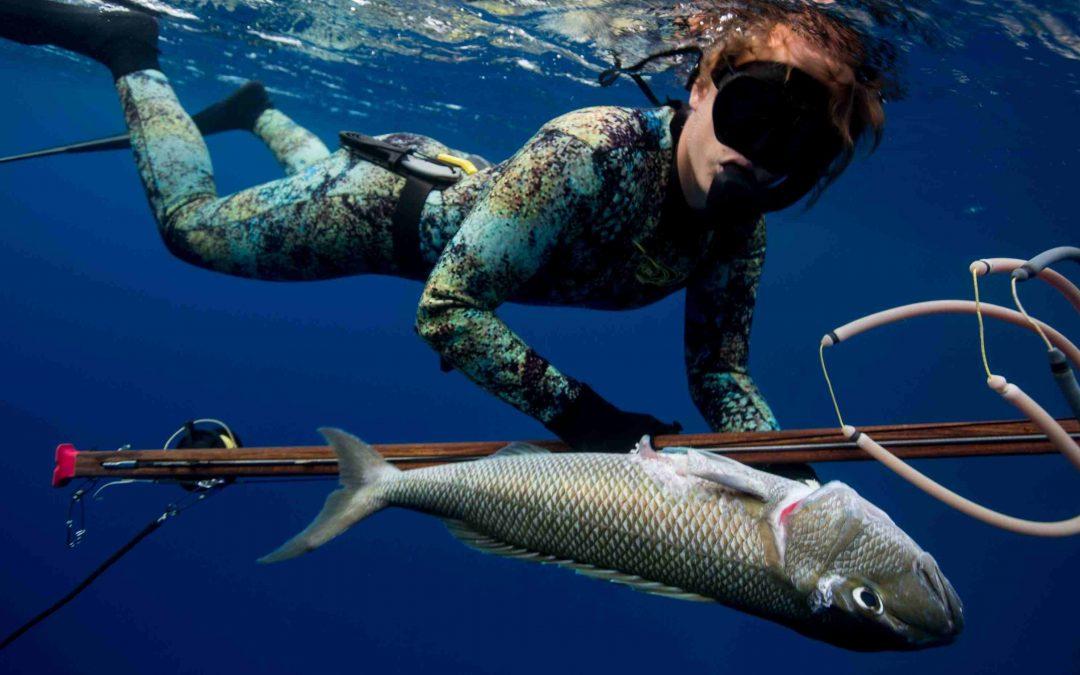 como se pesca con lanza,