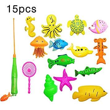 buenos juguetes de plastico para bañeras de peces cañas de pescar de plastico
